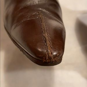 Tod's Shoes - Tod's Leather pointy toe Chocolate boots SZ 37.5